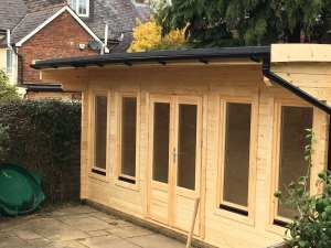 Bespoke Wembley log cabin, WEM044, 6m x 3.5m in 70mm logs