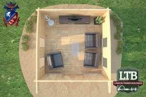 Wembley Log Cabin WEM021 4m x 4m