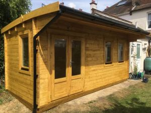 Wembley log cabin WEM034, 5.5m x 2.5m