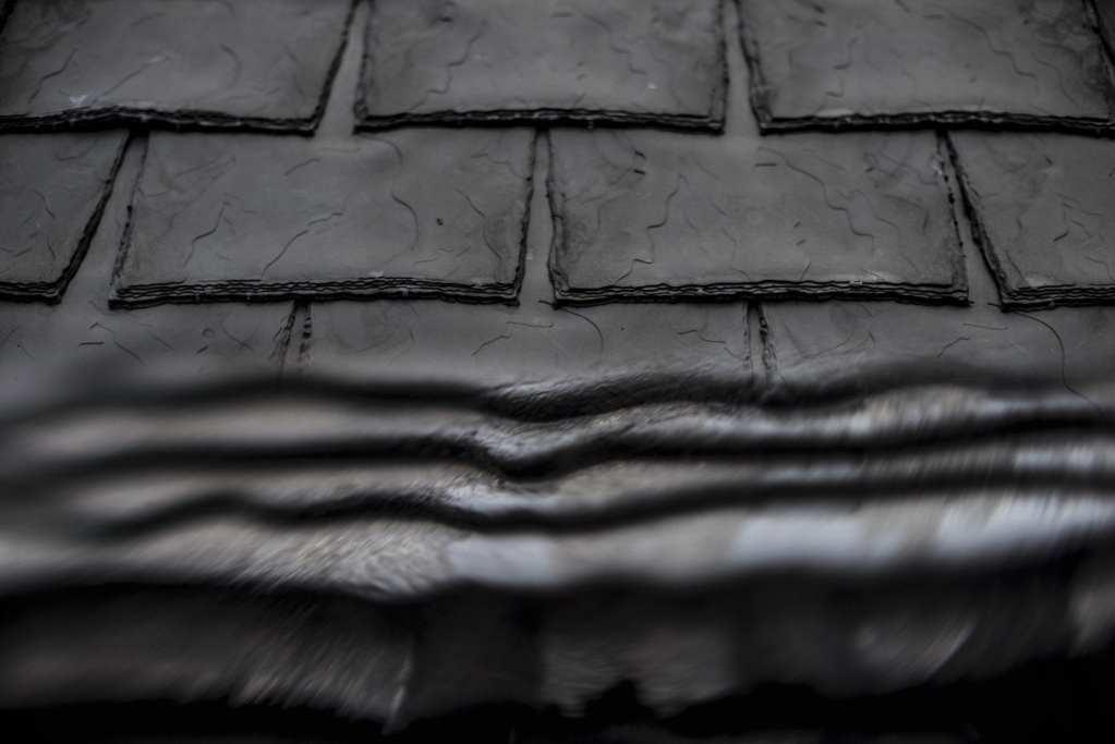 Eco slate rubber effect tiles