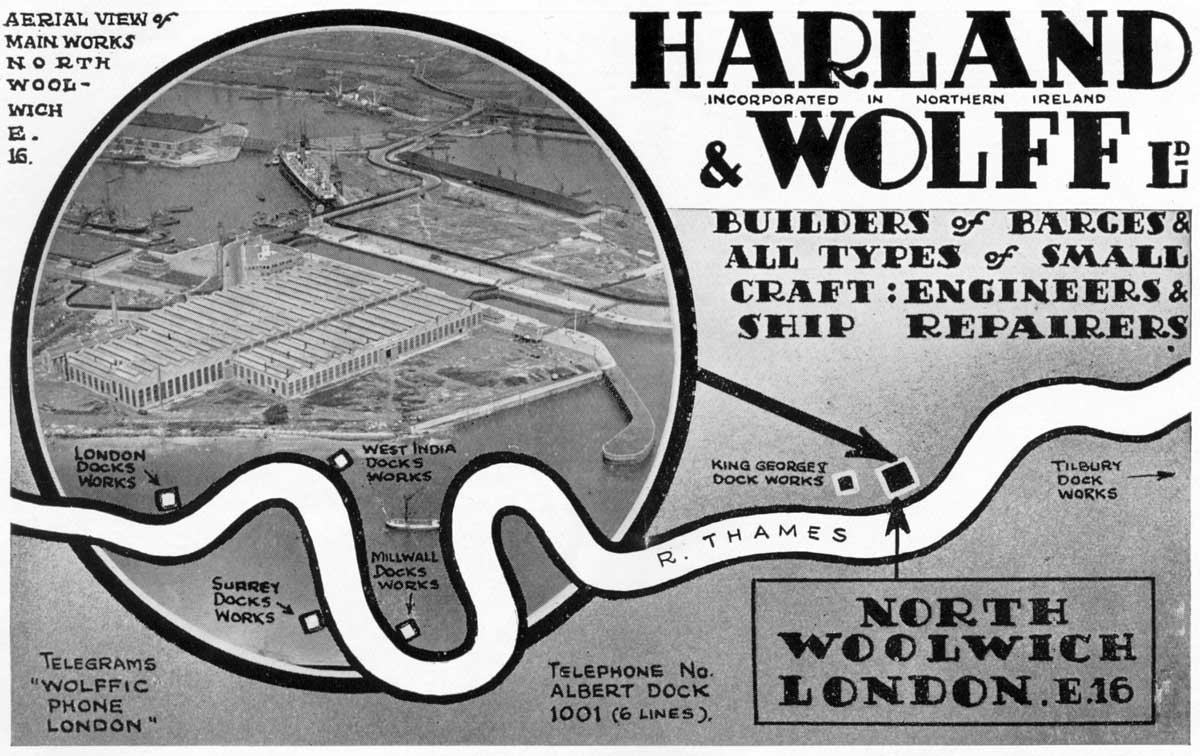 Harland and Wolff Advert