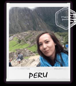 polaroid van Machu Picchu