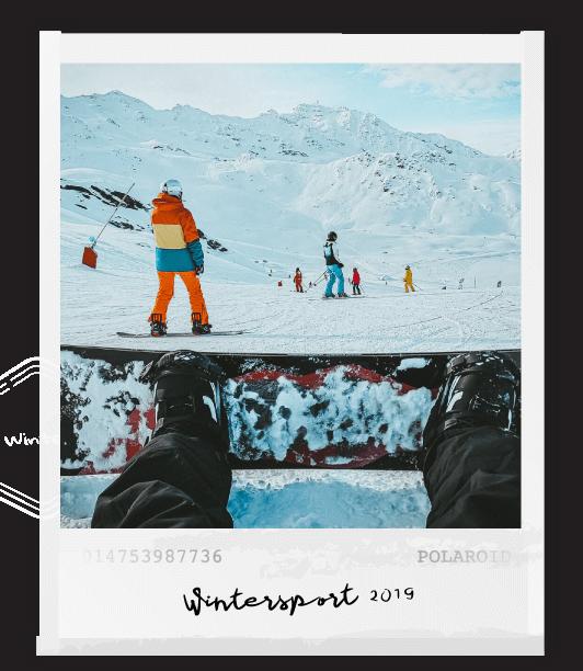 polaroid snowboarder