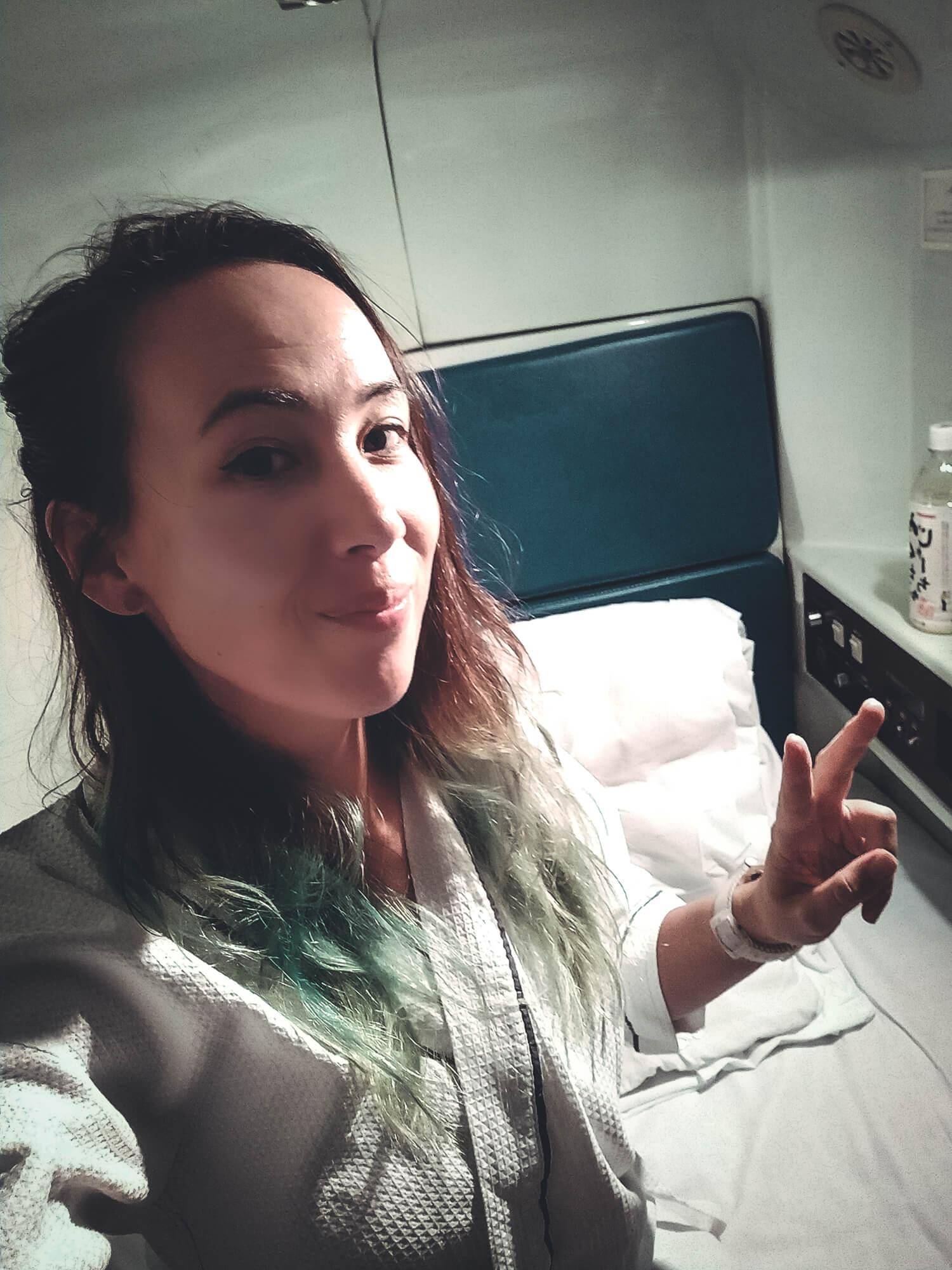 In capsulehotel Japan