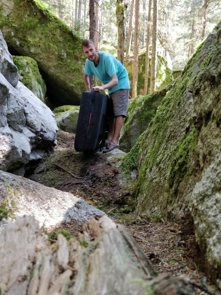 Boulermatje in het bos