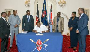 President Kenyatta Signs into Law the Security Amendment Bill