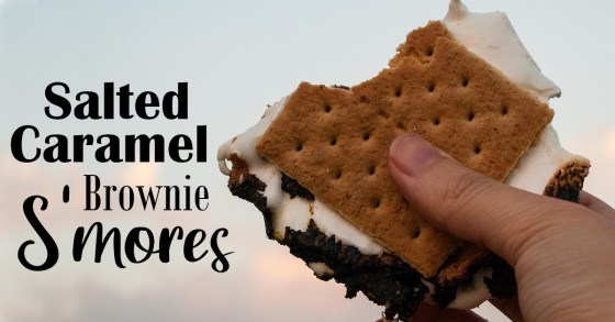 Salted Caramel Brownie S'mores