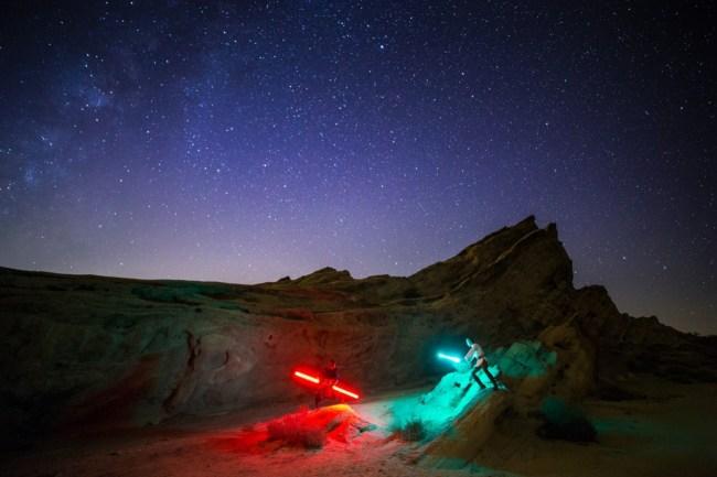 Vasquez Rocks Lightsaber Battle