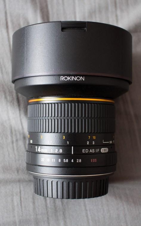 Rokinon Samyang 14mm f/2.8 IF ED UMC Lens Cap On