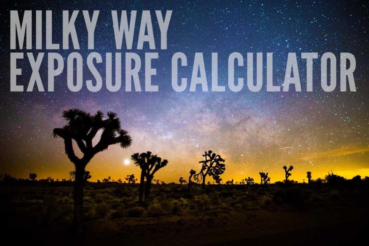 Milky Way Exposure Calculator