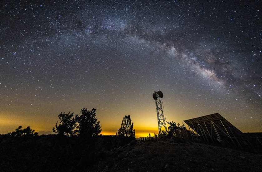 Milky Way over Mt. Pinos, Rokinon 8mm f/2.8 Fisheye, Defished