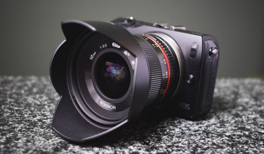 Rokinon 12mm f/2.0 NCS CS on Canon EOS M