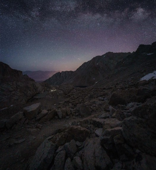 Mt. Whitney 99 Switchbacks at night