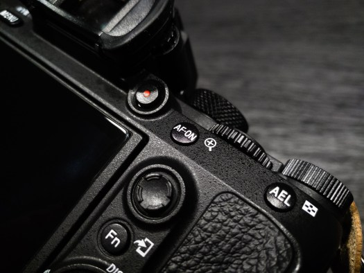 Sony a7III AF-ON and Record Button