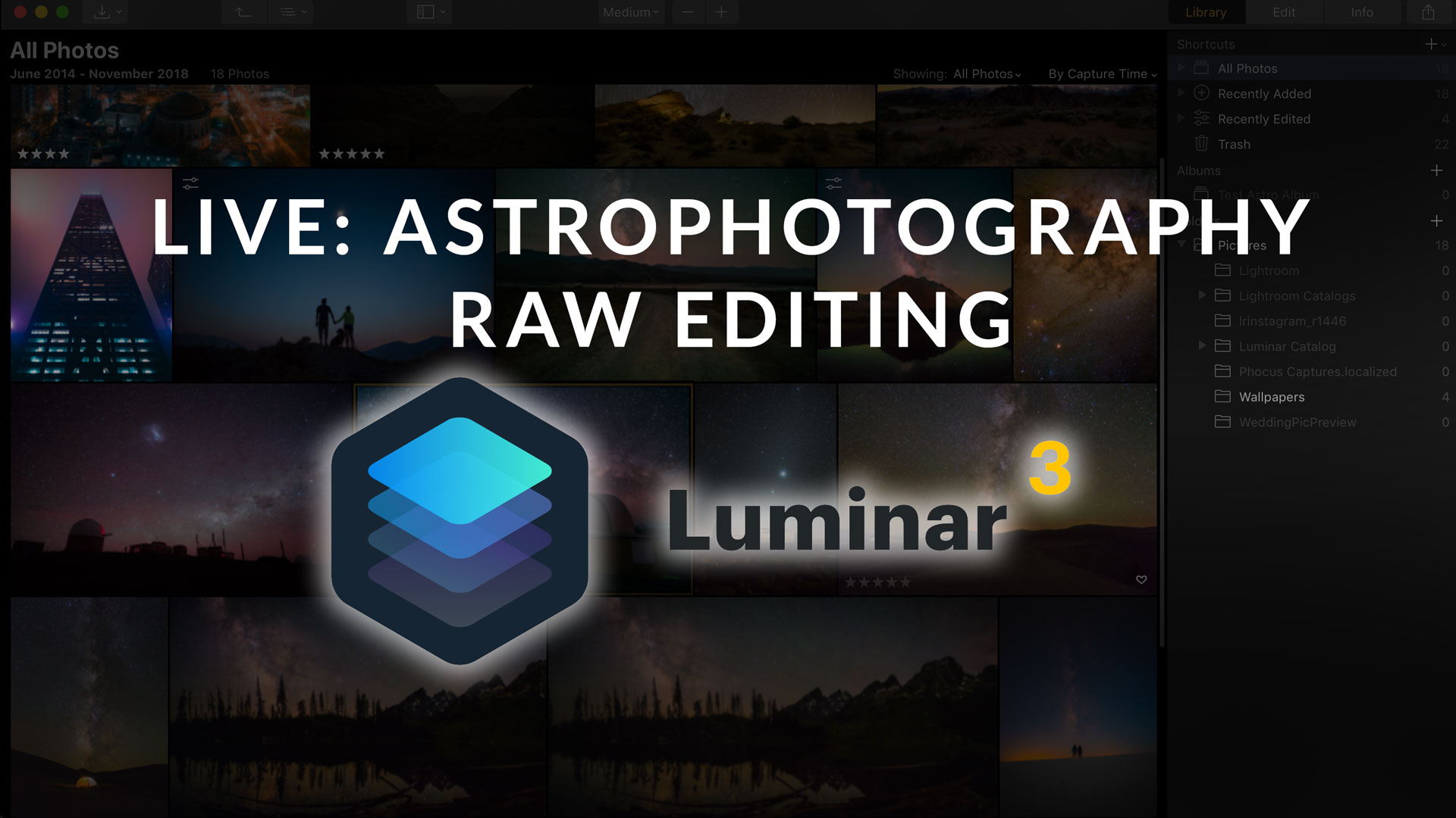 Live Review: Astrophotography RAW Editing in Luminar 3