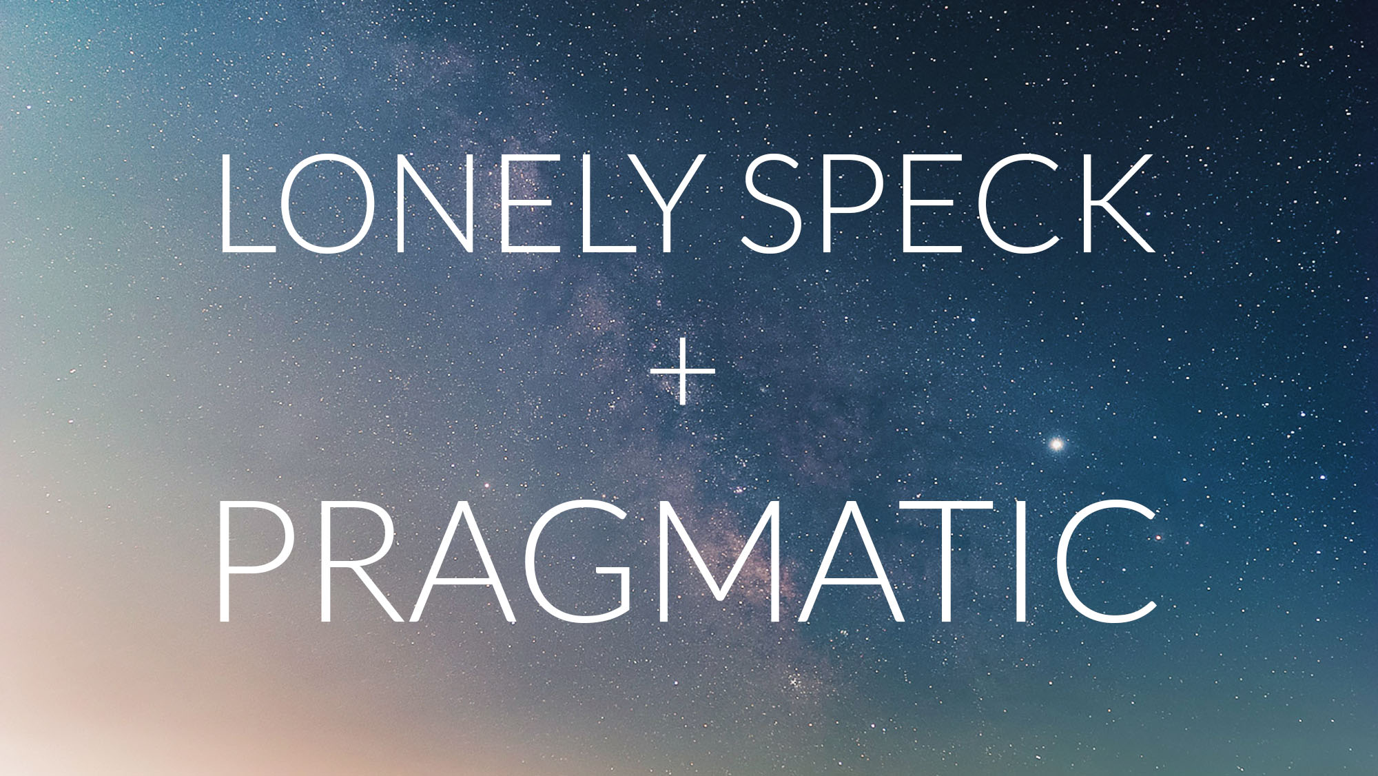 Lonely Speck on the Pragmatic Podcast
