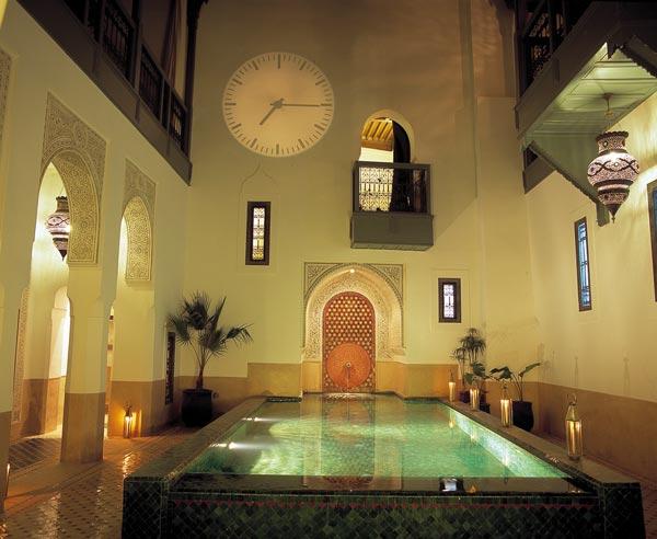 Marrakech, piscina all'interno di un Riad Hotel