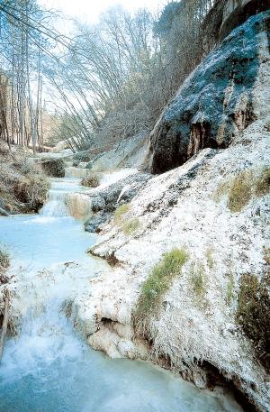 Le acque delle Terme San Filippo
