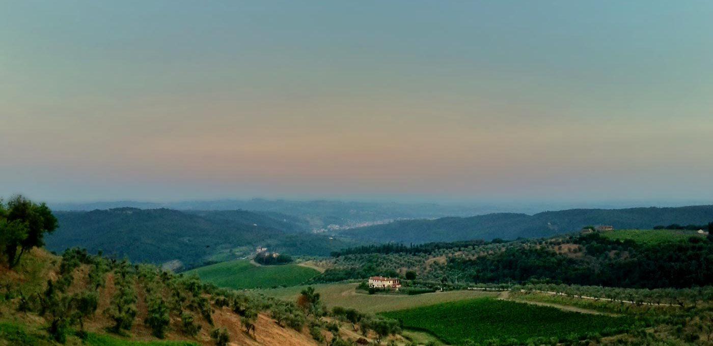 Artimino: la Villa Medicea in una sera d'estate