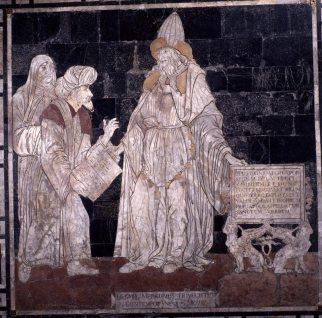 Pavimento del Duomo di Siena, particolare (Ermete Trismegisto)