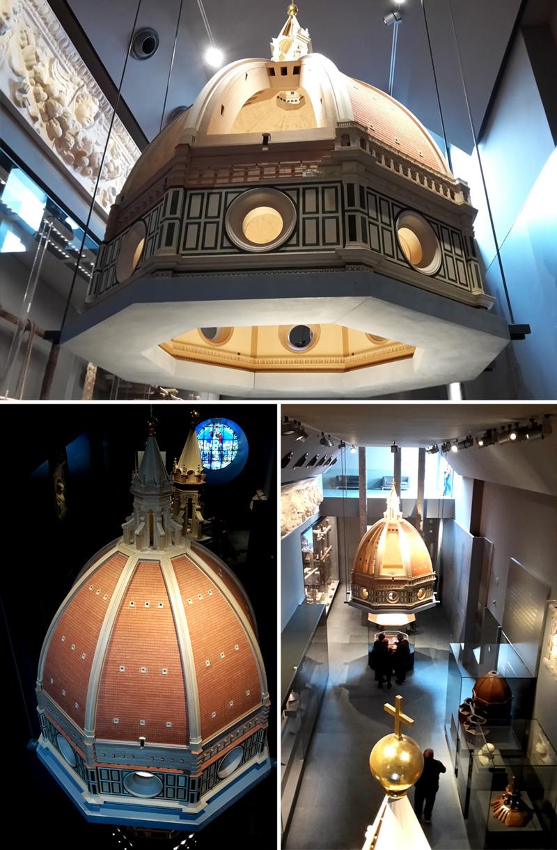La sala dedicata alla Cupola del Brunelleschi