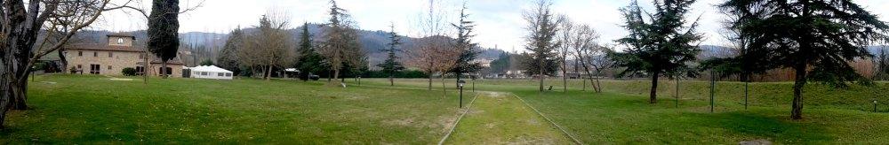 Il parco che circonda il Relais Pian d'Ercole