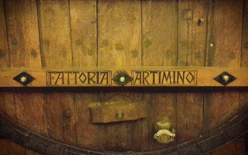 Dettaglio di una delle botti conservate presso la Villa Medicea di Artimino