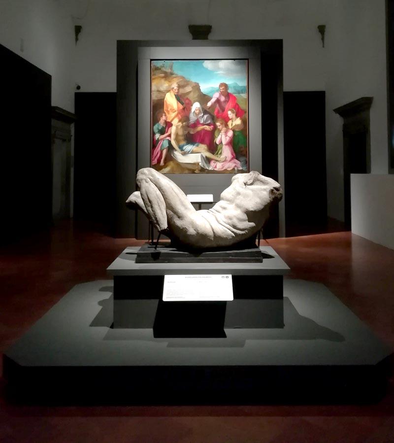 La prima sala della mostra Il Cinquecento a Firenze