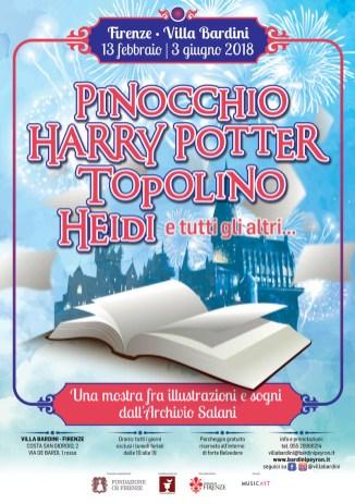 Copertina della mostra Pinocchio, Harry Potter, Topolino, Heidi e tutti gli altri…