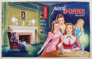 Ugo Signorini, Piccole Donne, copertina 1959, tempera su carta, anno 1956
