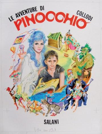 Afredo Brasioli, Pinocchio, copertina 1971, tempera su carta