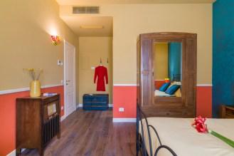 La stanza dedicata a Forese e Pupa, i proprietari originari dell'appartamento