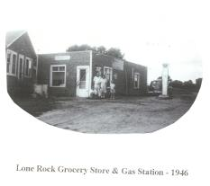 Lone Rock Grocery Store & Gas Station - 1946