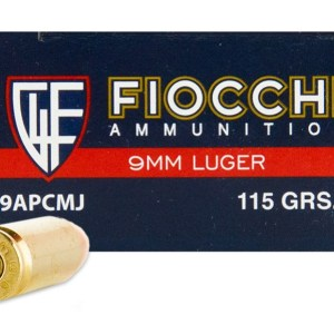 Fiocchi 9MM 115GR CMJ – 50rd Box