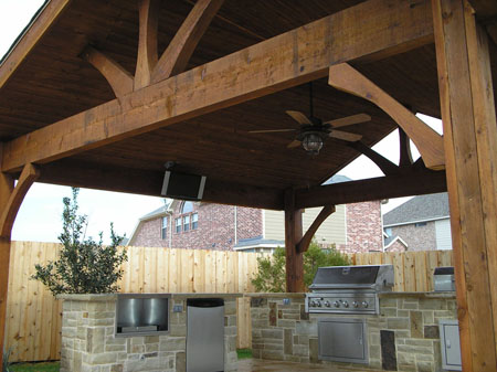 covered outdoor kitchens and patios Cedar Covered Patios in Houston - Lone Star Patio Builders