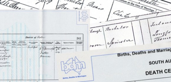 Australian Birth, Death and Marriage Records