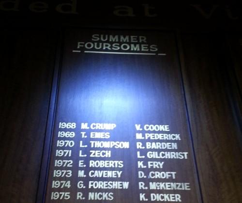 TTG Gold Club Honour Board 3