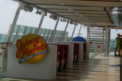Helen and I went to Johnny Rockets, which is right up on Deck 12