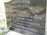 Phebe Randell's headstone at Salem Baptist Church, Gumeracha