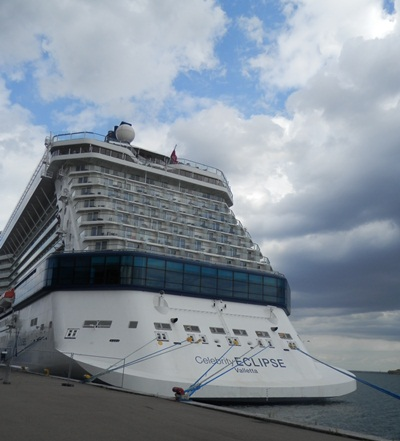 the back of the Celebrity Eclipse