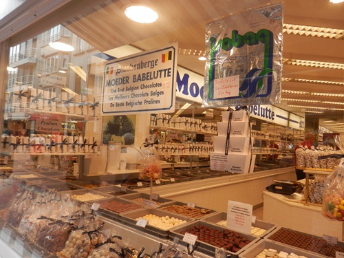 you can't go to Belgium, and not go to a Belgian chocolate store