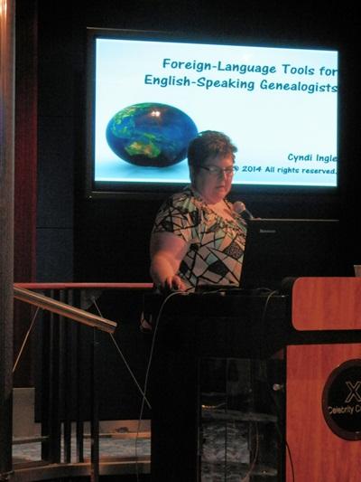 Cyndia talking on Forgein-Language Tools for English-Speaking Genealogists