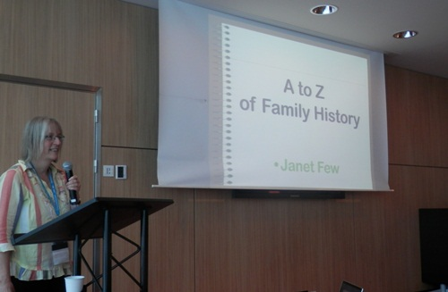 Janet Few's A to Z of family history using less known UK resources was fascinating