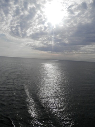 view of the sea arriving at St Peterburg, Russia - taken 17 July 2015