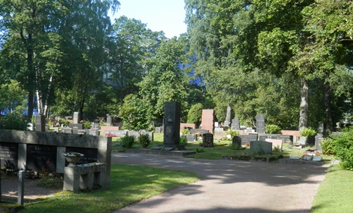 of course we visited the Helsinki cemetery