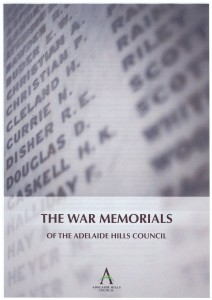The War Memorials of the Adelaide Hills Council