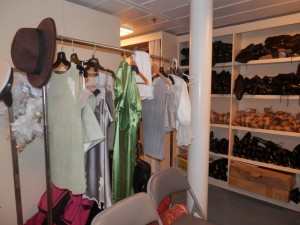 costume area of the stage performers