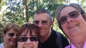 Helen, Daryl, Judy and myself at the Gorge Wildlife Park