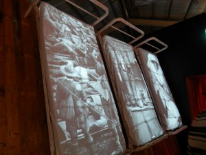 they even had images projected on to military hospital beds