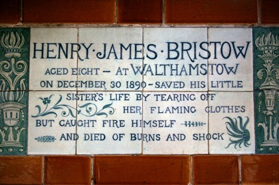 memorial plaque at Postman's Park